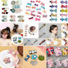 1 Set Kids Baby Girl Hair Clips Set Bowknot Flower Heart Crown Headwear Hairpins