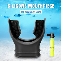 Diving Equipment Mouthpiece Black For Portable Oxygen Cylinder Scuba Air