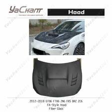 Fiber Glass Bonnet Fit For 2012-2018 GT86 FT86 ZN6 FRS BRZ ZC6 FA-Style Hood