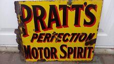 vintage enamel sign - Pratts perfection motor spirit