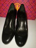"Tory Burch sz 5 Black Patent Leather 3"" Pumps Heels"
