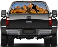 Cowboy Up, Mountains Version 2 Rear Window Graphic Decal Truck SUV Van Car