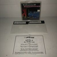 "UNTESTED WOLFENSTEIN 3D 1992 5.25"" Disk IBM PC XT AT Video Game Micro Star RARE"