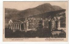 Holyrood And Arthur's Seat - Photo Postcard c1910