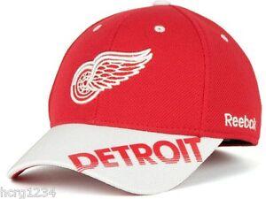 Detroit Red Wings Reebok MO76Z NHL Stretchfit Center Ice Hockey Cap Hat L/XL