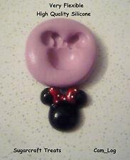 Minnie Mouse Stampo in silicone flessibile, Sugarcraft Decorazione Torte, artigianato, fimo