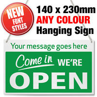 PERSONALISED CUSTOM MADE 'COME IN' OPEN & CLOSED HANGING SIGN, SHOP WINDOW DOOR