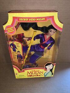Vintage 1997 Mattel Disney's Mulan Secret Hero Mulan Doll Figure New In Box