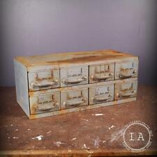 Vintage Industrial Equipto 8 Drawer Steel Parts Cabinet