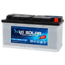 NRG SOLAR 120Ah 12V USV Wohnmobil Antrieb Versorgung Boot Schiff Solar Batterie