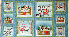 "Christmas Fabric Panel Quilting Treasures Just Chillin' Emma Leach  24"" x 44"""