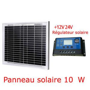 Kit panneau solaire 10 watts + régulateur énergie renouvelable neuf pas cher USB