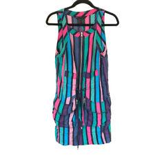 MARC BY MARC JACOBS Size 6 Spectrum Stripe Swiss Dot Shift Dress Bold Colors