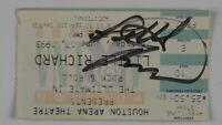 Little Richard Autograph Signed Concert Ticket JSA COA