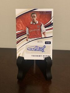 2020 Immaculate Soccer Thierry Henry SSP Auto/25 Arsenal
