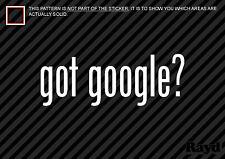 (2) Got Google Sticker Decal