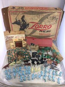 Vintage 1958 Marx Walt Disney Zorro Playset No. 3754 Series 1000