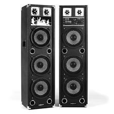 DJ PA PACK SONO AMPLIFIE 2x ENCEINTE 3 x SUBWOOFER 20CM USB MP3 SD MIC IN NEUF