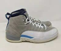 Men's Nike Air Jordan 12 Retro UNC Wolf Grey/University Blue 130690-007 Size 11