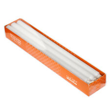 DINING CANDLES - Straight Edged - 22 x 400mm - White - 6 Pack