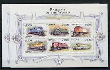 Ghana 2972/83 postfrisch 2 Kleinbogen / Eisenbahn ........................1/1982