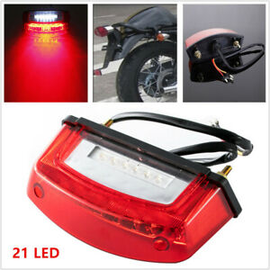 5W 12V 21 LED Motorcycle Rear Tail Brake Light License Number Plate Lamp 3 wire