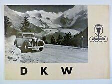 DKW AUTO UNION. 1937 CAR BROCHURE.