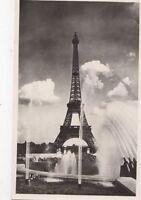 Les Grandes Eaux Palais de Chaillot & Tour Eiffel Paris France RP Postcard 326a