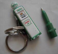 NOS Vintage Sinclair Gas Pump Key Tag Pen Key Ring Factory Sealed