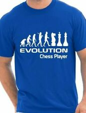 Evolution Of Chess Player  Funny Adult Mens T-Shirt Birthday Gift Size S-XXL