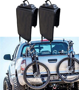 Pair Portable Tailgate Pad Shuttle Protective Bike Rack w/Strap for Pickup Truck