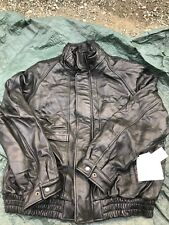 Vtg Clipper Mist $219 Leather Motorcycle Jacket XXL 90s Retail Tags Attached
