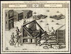 Antique Print-HAULING DEVICE-PULLEY-GEARS-CLXXXI-Ramelli-Bachot-1588