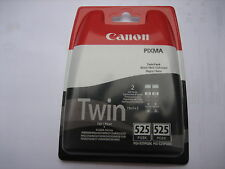 ORIGINAL CANON TWINPACK 2 x PG-525BK PGBK525 for Pixma ip48050 4650 iX6550 OVP