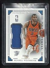 Russell Westbrook National Treasures NBA MATERIAL Jersey #/99! OKC Thunder RAGE!