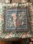 Gobelins Vintage Art Tapestry Chipmunk Acorn Fall