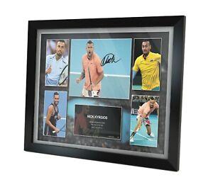 Nick Kyrgios Signed Photo Framed Memorabilia Limited Edition + COA