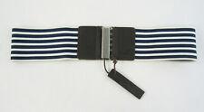 New Hollister juniors Navy Blue & White Waist Fit Belt Size X-Small/Small