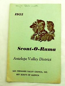 1955 BSA Scout-O-Rama Antelope Valley District Calif.Program  May 1955
