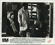 1990 Press Photo Susan Blakely, Ric Springfield, Cliff Robertson in Film