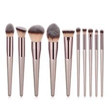 10pc Brush Kit Tools Professional Makeup Brushes Set Powder Blush Eyeshadow Lip