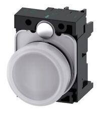 Siemens SIRIUS acto Blanco LED Luz Piloto Completa, 22mm recorte, IP20, 24 V AC/DC