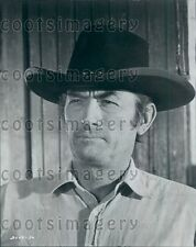 1971 Legendary Actor Gregory Peck Wearing Cowboy Hat in Shoot Out Press Photo