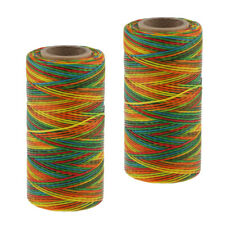2x 200M 150D 1mm Leather Sewing Waxed Wax Thread Hand DIY Stitching Craft