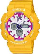Casio Baby-G BA120-9 Sporty Fashion Ladies Analog Digital Yellow Resin