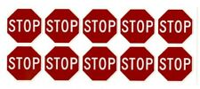 Stop Sign Stickers 10 Decals 15 Octagon Shape Outdoor Durable