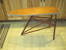 ANTIQUE VTG CHILD TOY IRONING BOARD OVB USA WOOD OUR VERY BEST TABLE SAGINAW MI