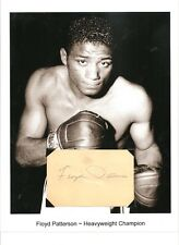 Floyd Patterson Autograph Boxing Boxer Heavyweight Champion Jimmy Jacobs Archie