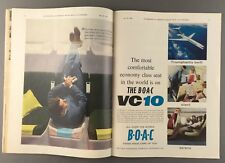 VICKERS VC10 MAGAZINE SUPPLEMENT 1964 GREAT PICTURES SEAT MAPS BOAC