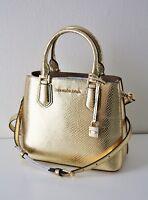 MICHAEL KORS TASCHE/BAG ADELE MD MESSENGER Leather Leder pale gold